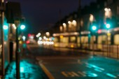 Artistic style - Defocused, blurred urban abstract traffic background — Stock Photo