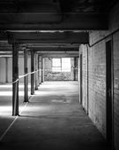Empty warehouse office or commercial area, industrial background — Stock Photo