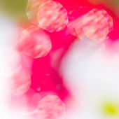Abstract red and green circular bokeh background — Photo