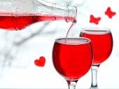 Red plum wine — Foto de Stock