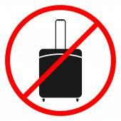 Icon ban luggage. — Stock Vector