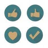 Set di icone, illustrazione vettoriale. — Vettoriale Stock