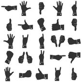 Icons hands vector — Vettoriale Stock