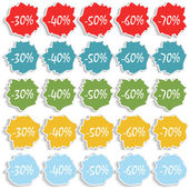 Set of stickers, vector illustration. — Stock Vector