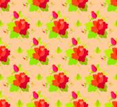 Floral vintage pattern, seamless old background. — Stock Vector