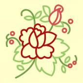 Stylized rose — Stockvektor
