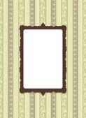 Vintage card. Ornate damask background. — Stock Vector