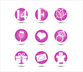 Valentine's day, 14 February,  icon — Stock Vector