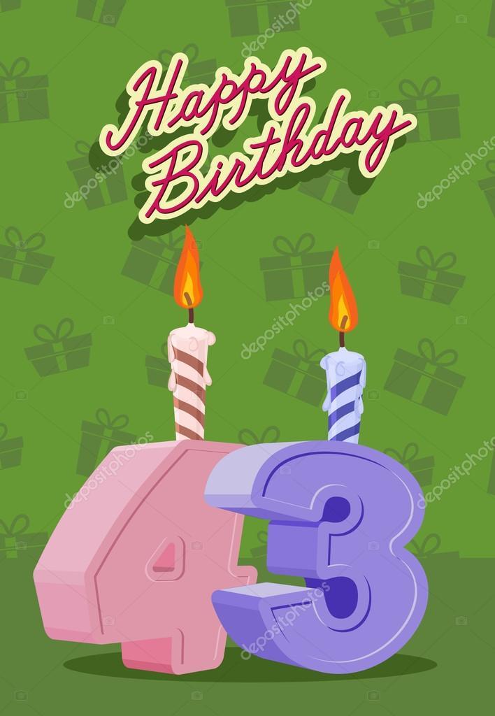 Поздравление с днем рождения женщине 43 года