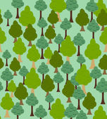 Seamless forest pattern. Cartoon tree background — Stock Vector