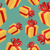 Gift boxes Seamless pattern. background for  holidays: birthdays — Stock Vector