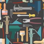 Construction tools seamless Pattern. Vector background — Stock Vector