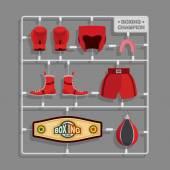 Boxing champion Plastic model kits  — Stok Vektör