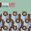 ������, ������: Russian national army of bears in Green Berets Military seamles