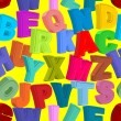 Color letters seamless pattern. Childrens alphabet. Cute funnyAB — Stock vektor #75348841