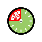 Deadline. Ends up being on clock. Vector illustration — Stock Vector