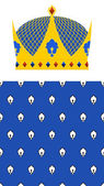 Crown for King and Royal pattern. Vector set for Kingdom. — Stock Vector