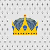Royal Crown of gold with precious stones. Vector illustration — Stock Vector