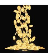 Gold coins illustration — Vecteur