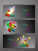 Background happy birthday — Stock Vector