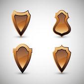 Metal vector  shields — Stock Vector