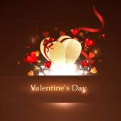 Happy Valentines Day card illustration — Stock Vector