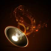 абстрактный музыкальный фон — Cтоковый вектор