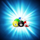 Game of billiards background — Stock Vector