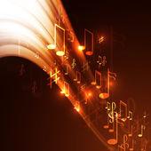Fondo de música abstracta — Vector de stock
