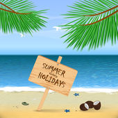 Summer Beach. Sand and Ocean. — ストックベクタ