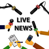 Concept live news — Stock Vector