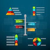 De sjabloon tijdlijn met grafieken — Stockvector