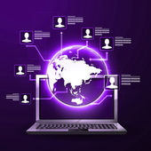 The concept of social network — Stock Vector