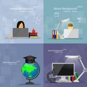 Flaches Design-Konzepte der Bildung. — Stockvektor