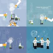 Scientists in laboratories conducting research — Stock Vector