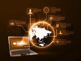 The concept of Internet technology — 图库矢量图片