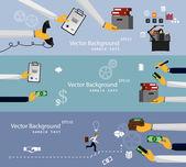 Template background  teamwork — Stock Vector
