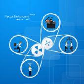 Teamwork business template — Stock Vector