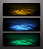 Smooth neon Waves — Stock Vector