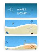 Summer beach banners — Stock Vector