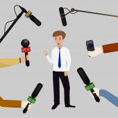 Concept of live news — Stock Vector