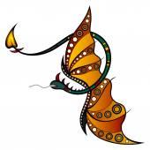 Vector Tribal Decorative Dragon — Stock Vector