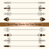 Vector Set of Page Borders — Stock Vector