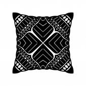 Vector Black Square Pillow — Stock Vector
