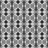 Vector Seamless Monochrome Abstract Pattern — Stock Vector