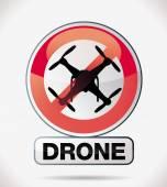 Drohne — Stockvektor