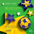 Football soccer background with stars — Stock Vector #73203791