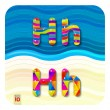 "Multicolored letters ""H"" — Stock Vector #73206829"