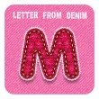 "3d denim letter ""M"" — Stockvector  #73207669"