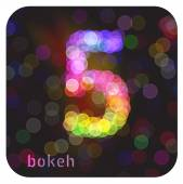 Bokeh number 5 — Stock Vector